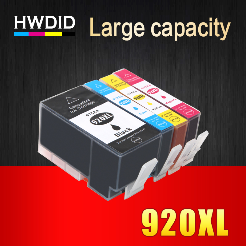 HWDID Full 920XL 920 XL Compatible Ink Cartridge for HP Officejet 6000 6500 Wireless 6500A 7000 7500 7500A printer with chip