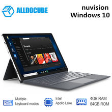 ALLDOCUBE manclima 2-en-1 Tablet PC con teclado 11,6 pulgadas Windows 10 OS Intel Apollo Lake N3350 CPU 4GB RAM 64GB SSD 5.0MP(China)