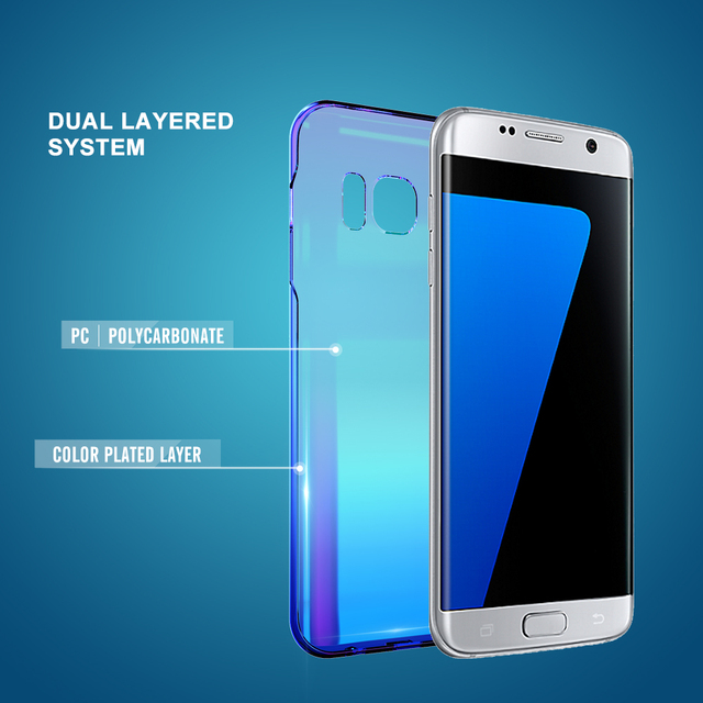 Cool Blue Ray Plastic Case for Samsung Galaxy S6 S7 S8 S9 Plus and Edge