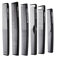 Hairdressing Barber Comb In Carbon Material 6 Pieces/lot Carbon Plain Haircut comb Heat Resistant And Anti-static, Pro Hair comb