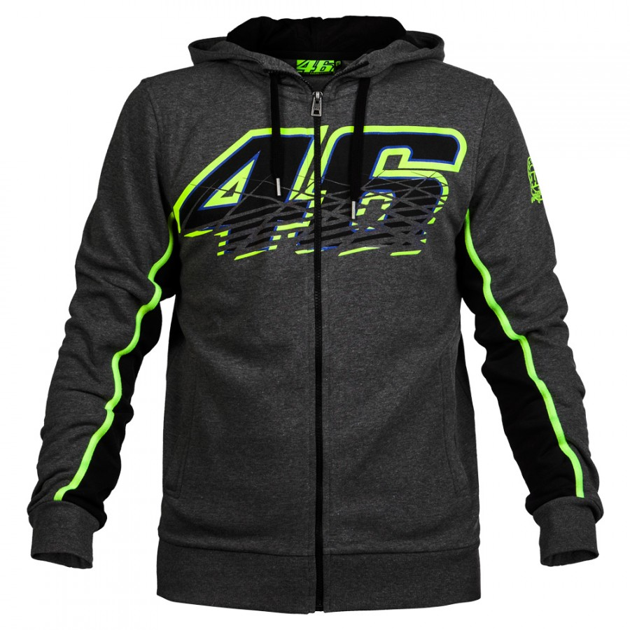 Valentino Rossi VR46 Hoodies Sweatshirts MotoGP Hoodies Motorcycle Casual Winter Sports Jacket Men s Zip up