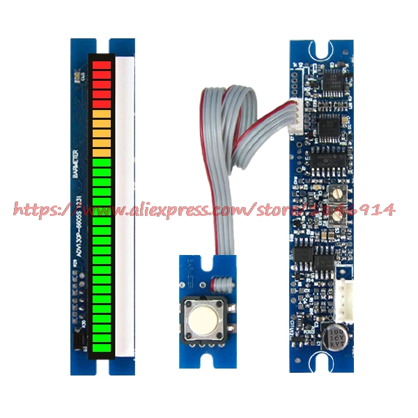 PPM Table Module The 30 Section LED66mm Length Sound Pressure Meter /DB Meter / Frequency Divider With Peak Hold