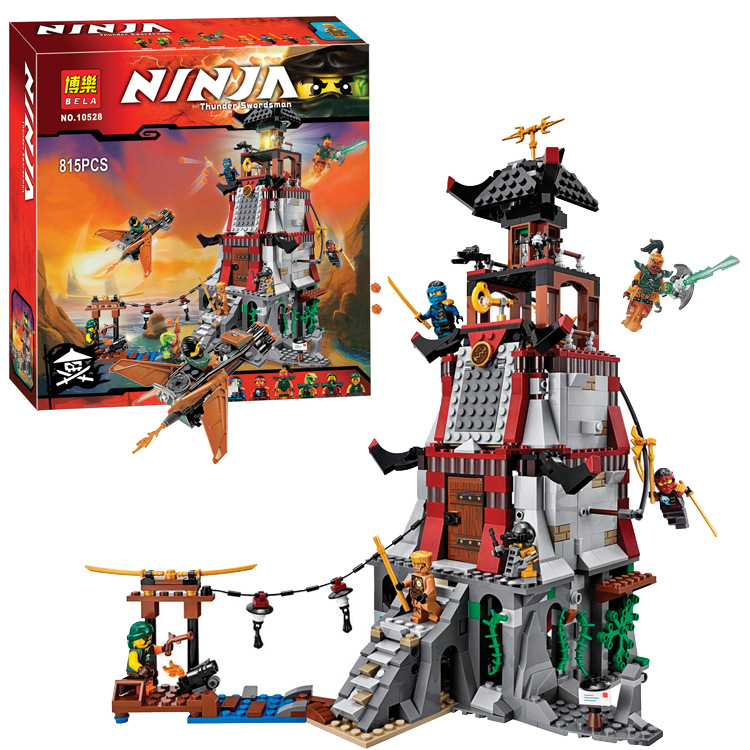 Bela 10528 Ninjagoes Town Battle Castle Ninja Bricks Toy Minifigures Building Block Minifigure Compatible with font