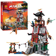 Bela 10528 Ninjagoes Town Battle Castle Ninja Bricks Toy Minifigures Building Block Minifigure Compatible with legoe 70594 Toys