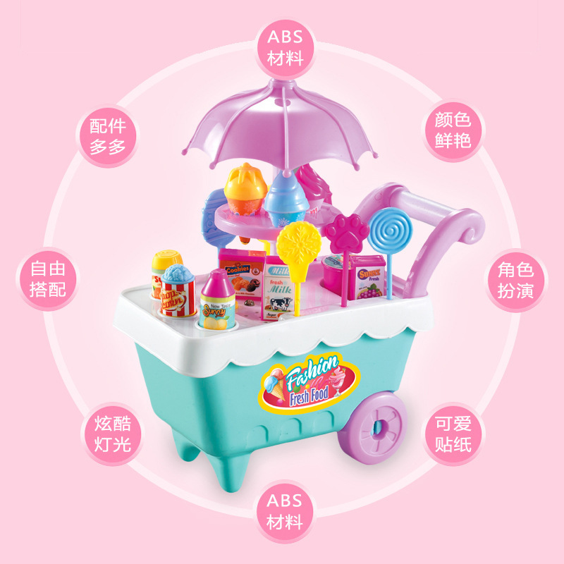 Hot selling new children 39 s candy ice cream truck with music DIY19 sets of candy trolley passing toys in Kitchen Toys from Toys amp Hobbies