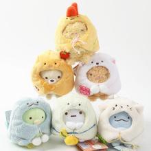 1 шт. Япония Угловые плюшевые игрушки маленькая мягкая подвеска для ключей 8 см 6 видов WJ01