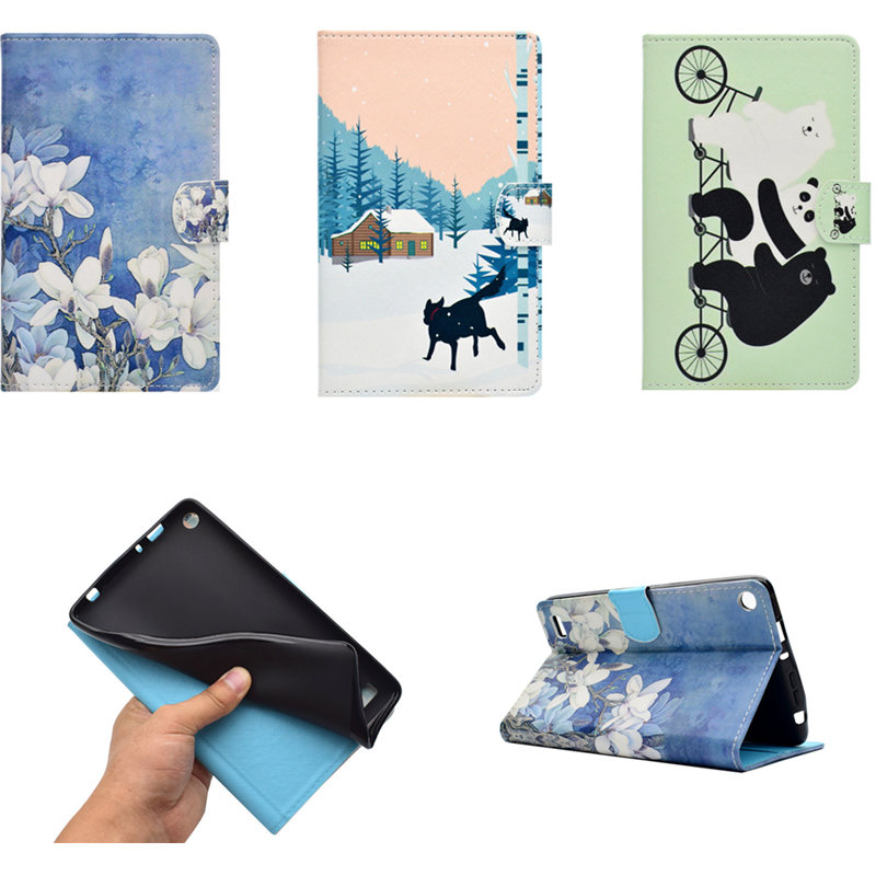 For Amazon Kindle Fire HD 8 2017 7th Generation 8 inch Tablet Case PU Leather Funda Case Cover for Kindle Fire HD8 2016 6th