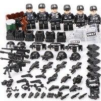 2018 DIY военный солдат Мини-куклы армия спецназ строительные блоки игрушки совместимы с классическим Legoed
