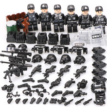 2018 DIY Military Soldier Mini Dolls Armed Forces SWAT Building Blocks Toys Compatible with Classic Legoed(China)