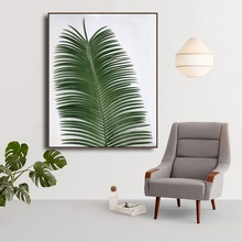 Laeacco Canvas Calligraphy Painting Tropical Palm Tree Green Leaves Posters and Prints Wall Art Pictures Living Room Home Decor