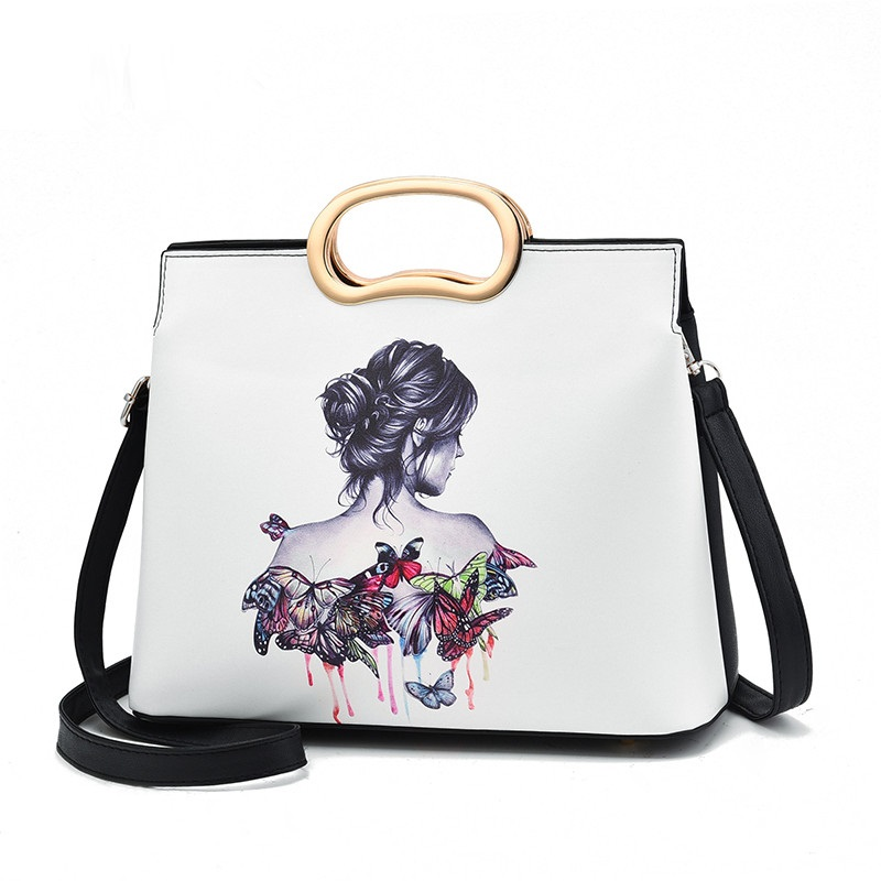 2018 New Trend Messenger Bag Fashion Personality Handbags Atmospheric Simple Handbag Colorful Printed Pattern Shoulder Bag