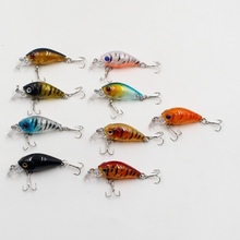 Hot sell Cheap1PCS Artificial Hard Minnow Crank lures 3D Eyes fish with two sharp hooks baits Wobbler Tackle tools accessory