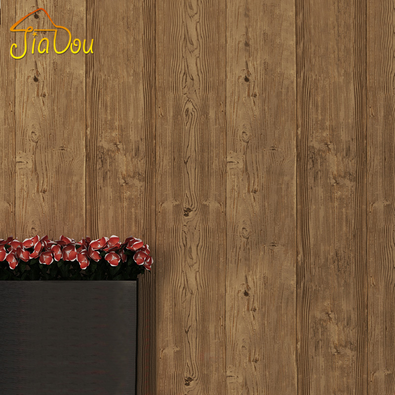 Vintage Chinese Style Imitation Wood Flooring Pattern Wallpaper PVC Deep Embossed Bedroom Living Room Restaurant Sofa Wallpaper junran america style vintage nostalgic wood grain photo pictures wallpaper in special words digit wallpaper for living room