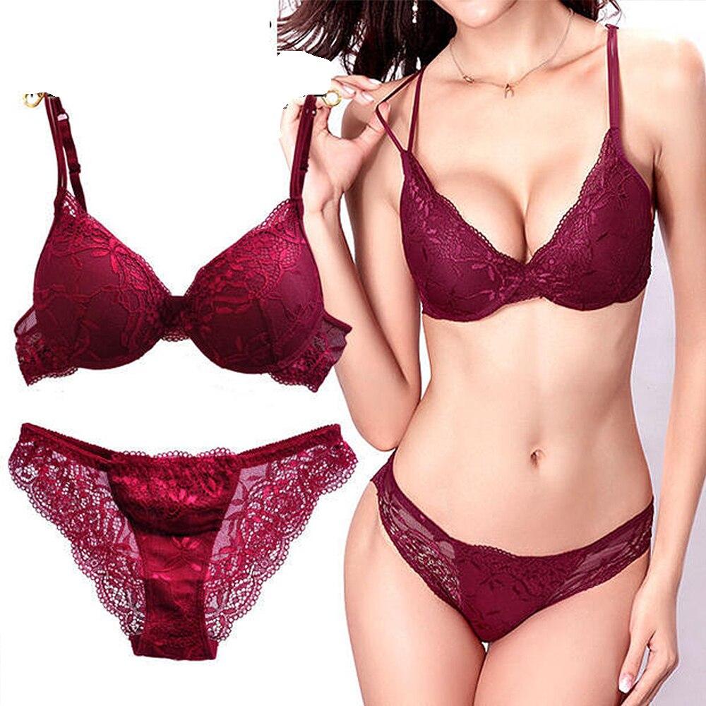 342f0ab552a91 Hot sale Designer Sexy Fashion Bra Set Push Up ABC Cup Lace Bralette ...