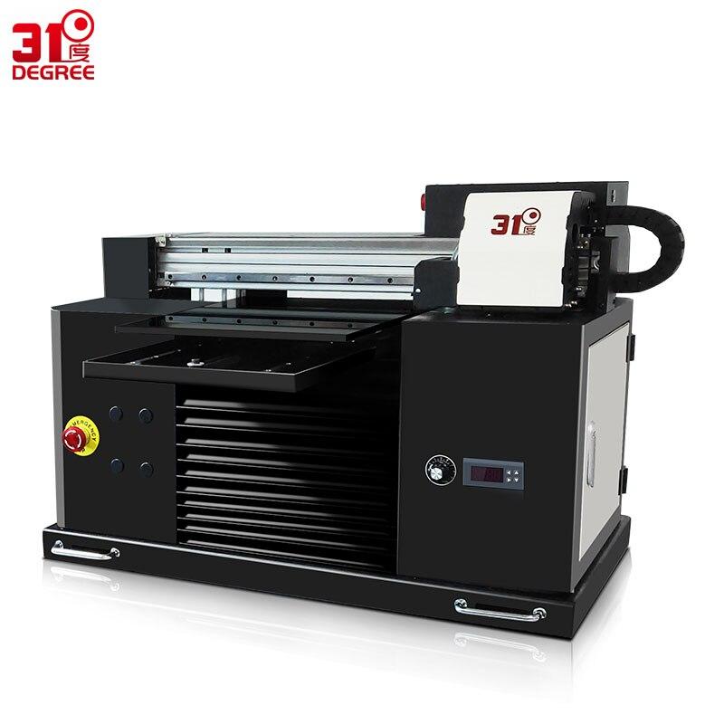 31 degrés 30*50 cm UV Couleur Jet D'encre Imprimante À Plat T-shirt Machine D'impression 3d Relief Cas de Téléphone En Métal /en bois/PVC Imprimantes
