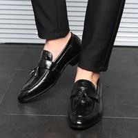 2019 Men Dress Shoes Quality Men Oxford Shoes Lace up Brand Men Formal Shoes Men Leather Wedding Shoes