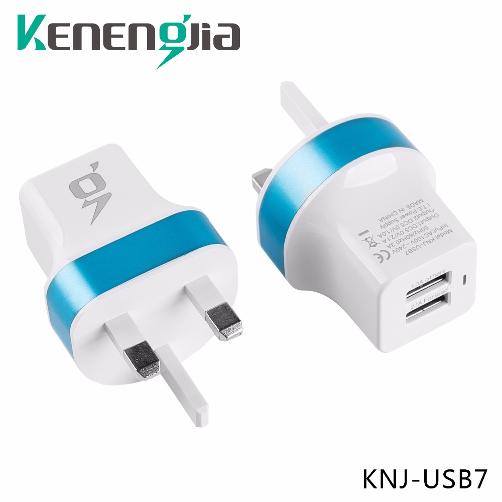 Brand New 5V 2 1 Amp and 1 0 Amp Dual 2USB Wall Charger 3 pin