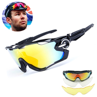 3 Lens Brand Designer Jaw Breaker Cycling Glasses Eyewear TR90 Men Women Outdoor Sports Bike Bicycle