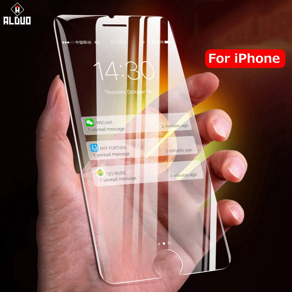 2Pcs Tempered Glass For iPhone8 7 6 Plus 11 pro max XR Protective Glass on For iPhone Xs max X 6s 5s 7 8 plus Screen Protector