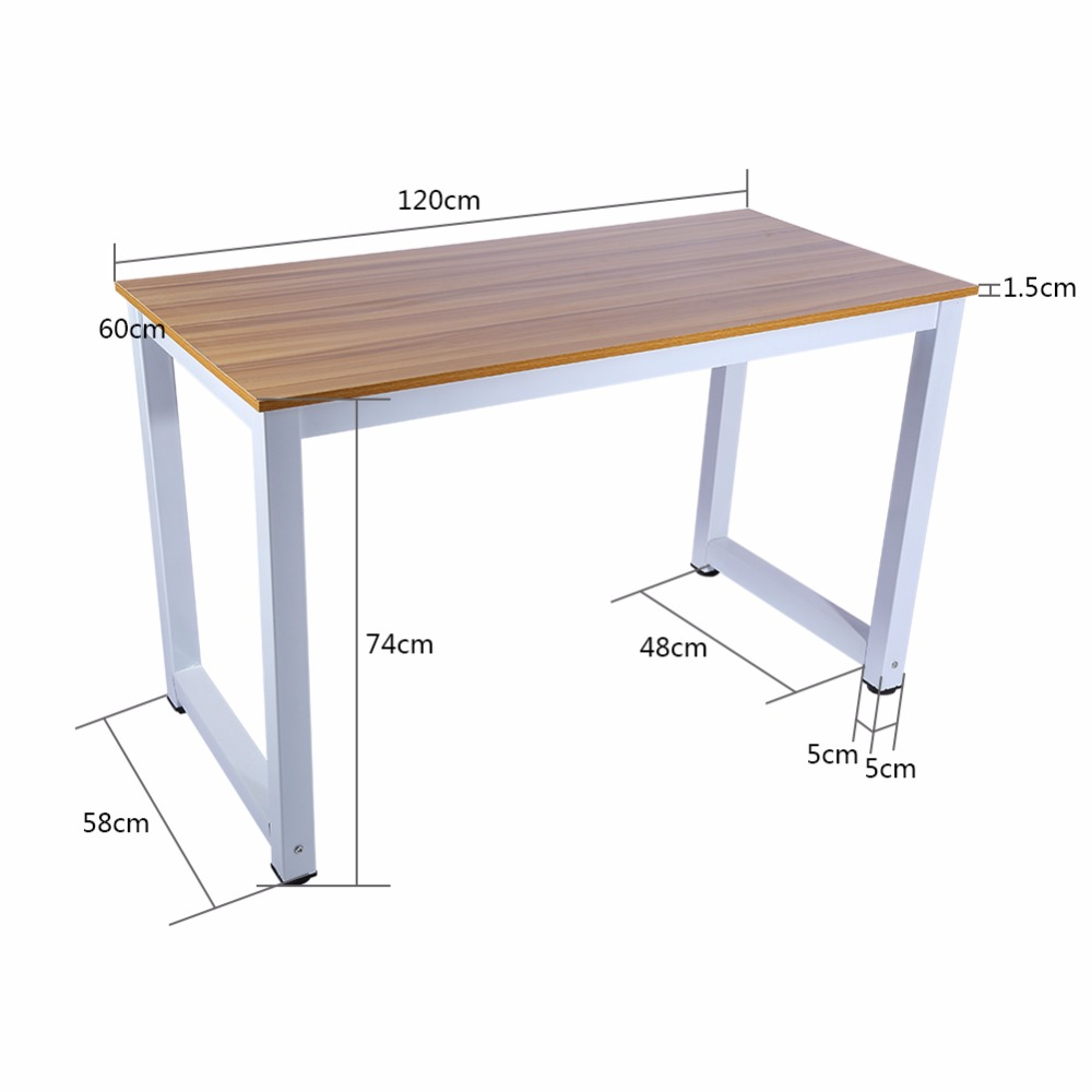 Modern wooden metal computer pc home office desk table for Table moderne