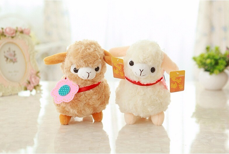 20CM Cartoon Lovely Alpaca Sheep Plush Stuffed Toy Kawaii Llama Plush Doll Toys Childlren Kids Christmas Gift