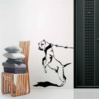 Pitbull Breed Decal Pet Animal Family Wall Decal Brit Sticker Dog Puppy