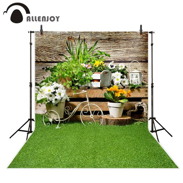 Allenjoy background for photo flower spring garden wood grass nature backdrop photocall portrait shooting photo prop