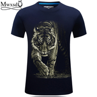 Mwxsd Brand Men 3d Printed T Shirt Tiger Printing Male Summer T Shirts Mens Social Top