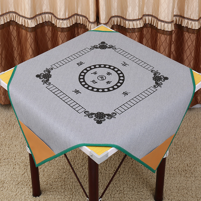 1X1m or 1.2X1.2m household Silence mahjong mat table cloth, Board game table Mah-Jong High grade PU Leather mat reduce the noise(China)