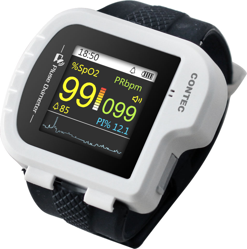 Image 5 - Wrist Oximeter Pulse Rate Monitor Sleep Study sleep apnea Detector Overnight Recording SPO2 Monitoring CONTEC CMS50I Well Packed-in Blood Pressure from Beauty & Health