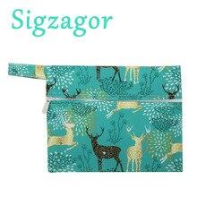 [Sigzagor] 10 шт./партия, водонепроницаемые Многоразовые мини-сумки для мам, тканевая менструальная прокладка, тампон для чашек, детский нагрудник, носочки, 35 дизайнов