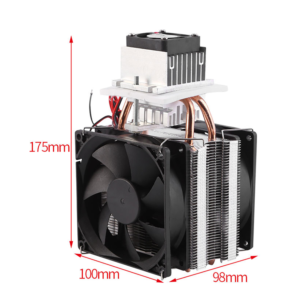 Mayitr Practical Thermoelectric Peltier Semiconductor Cooler Refrigeration Cooling System Heatsink Kit Fan 12V for Air Cooling thermoelectric peltier 60w cooler refrigeration semiconductor cooling system kit cooler fan finished set for computer cpu hot
