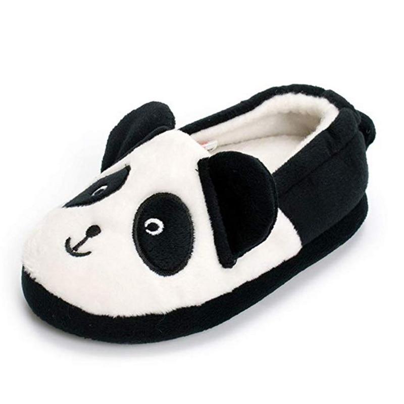 SHUJIN Child Home Warm Slippers Girls Cute Cartoon Panda Prints ... d14a21b10a25