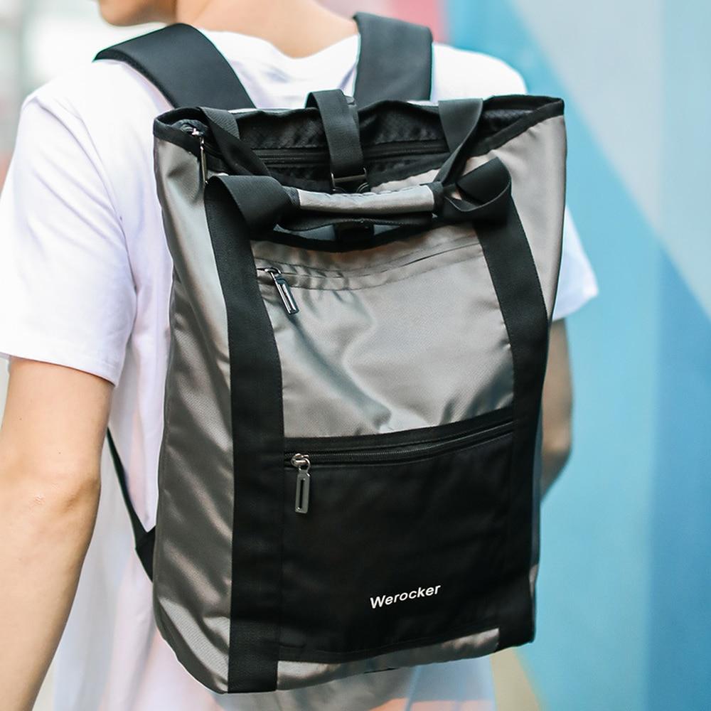 Contrast Puzzle Backpack Men's Korean Simple Travel Backpack Middle School Student Computer Bag Fashion Backpack