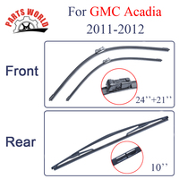 Combo Silicone Front And Rear Wiper Blades For GMC Acadia 2011 2012 Windscreen Rubbers Wipers Car