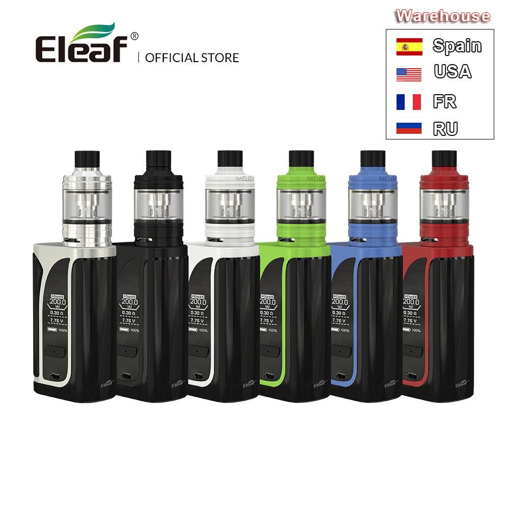 [RU/US] Original Eleaf iKuu i200 avec Melo 4 atomiseur 2ml D22/4.5 ml D25 atomiseur 4600mAh intégré batterie EC2 bobine E Cig