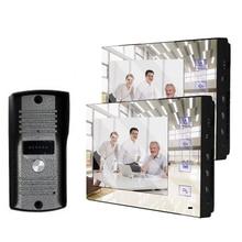 """XinSiLu товар """" полноцветный ЖК-зеркальный экран видео-телефон двери для виллы домашней автоматизации безопасности домофон дверной звонок Система 1V2"""