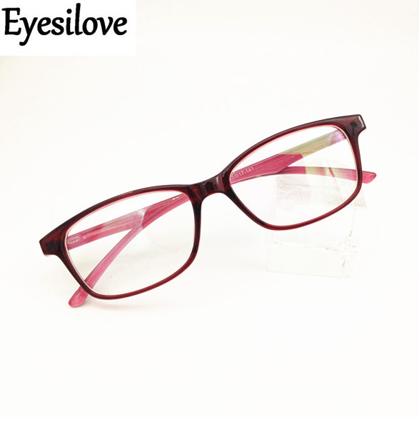 Eyesilove women myopia glasses TR90 Nearsighted Glasses lady finished Myopia eyeglasses lenses from -0.50 to -8.00