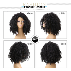 Image 5 - Amir Hair Natural Afro Wig Kinky Curly Wigs For Women Synthetic Female Wig Short Wigs Black brown blonde color avaliable
