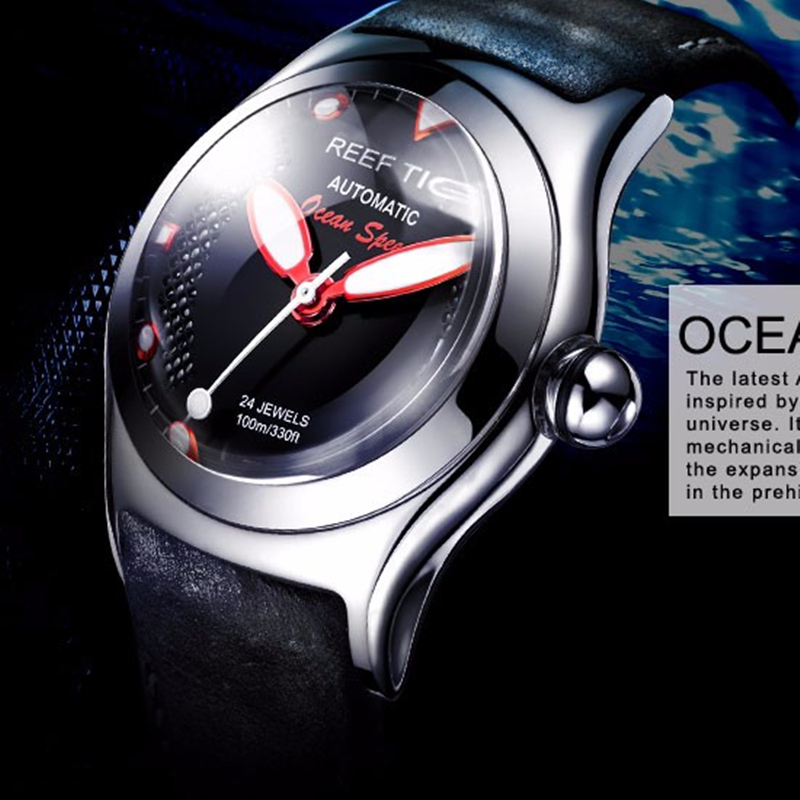 Watch Men Reef Tiger Mechanical-Sport Top-Brand Waterproof Luminous Luxury Reloj Business