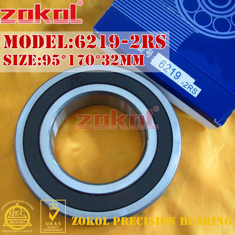 ZOKOL 6219RS bearing 6219-2RS 180219 6219 2RS Deep Groove ball bearing 95*170*32mm 100pcs 6700 2rs 6700 6700rs 6700 2rz chrome steel bearing gcr15 deep groove ball bearing 10x15x4mm