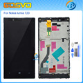 High quality full screen for Nokia lumia 720 n720 lcd display with touch screen digitizer with frame assembly black color+tools