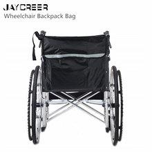 JayCreer сумка-рюкзак для инвалидной коляски-черный-отличный набор аксессуаров для мобильных устройств. Подходит для большинства скутеров, ходунков, роликов