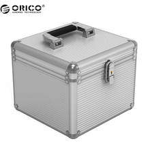 Orico BSC35 Aluminum HDD Protector Box 5/10 3.5-inch Hard Drive Protection Box Storage with Locking – Silver