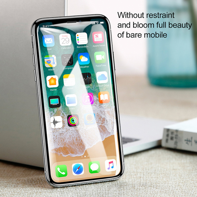 Baseus 0 3mm Screen Protector Tempered Glass For iPhone Xs Max X Xr Full Cover