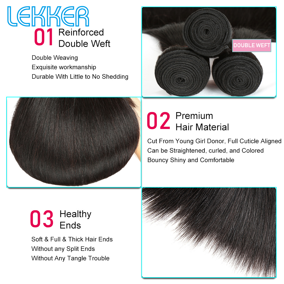 Straight Hair 3+1 -01