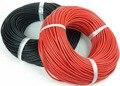 1 m Vermelho + 1 m Preto Cabo de Fio Resistente Ao Calor Silicone Soft Gel 6/7/8/10/12/14/16/18/20/22/24/28AWG PVC isolou o fio Elétrico cabo