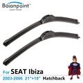 "Hatchback Wiper Blades para SEAT Ibiza 2003-2006 21 ""+ 18"", conjunto de 2, Melhores Limpadores de Párabrisas"