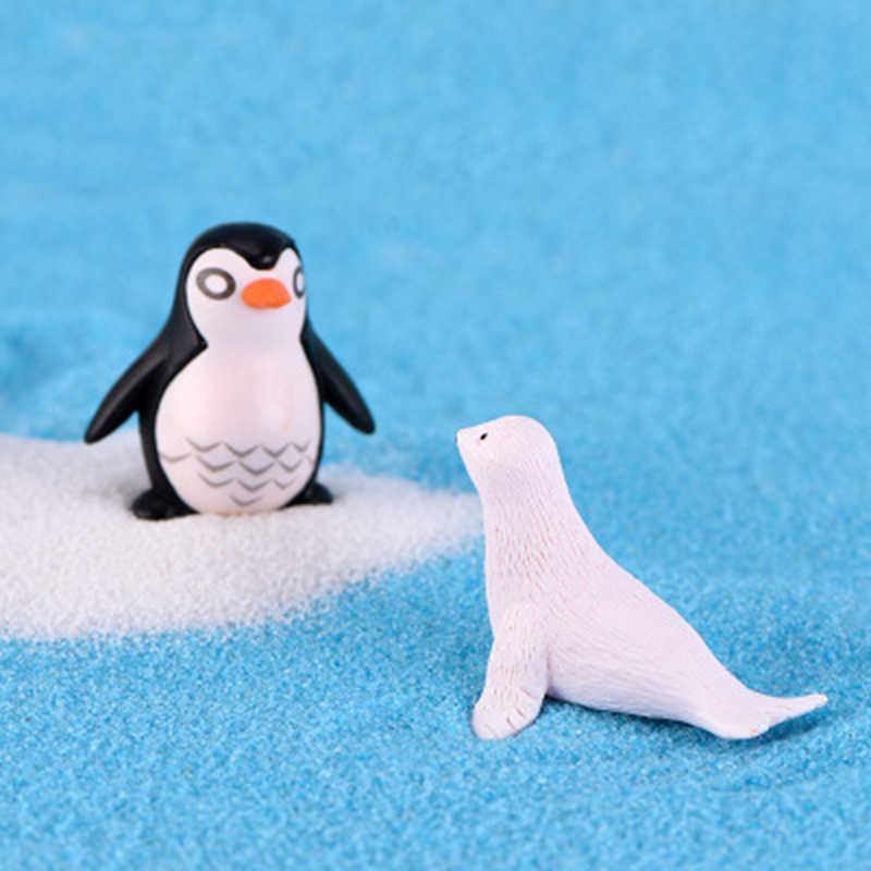 ZOCDOU 1 ピース白南極シールハッピー氷山海犬素敵なギフト装飾小彫像置物工芸家の装飾