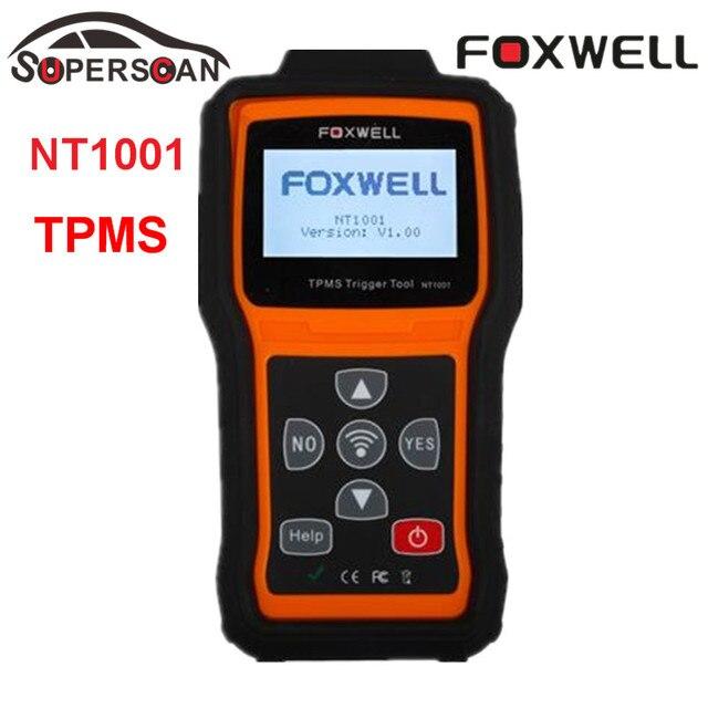 100% Original FOXWELL NT1001 Multi-language TPMS sensor Triggers Tool Tire Pressure Monitoring Sensor Decoder TPMS Repair